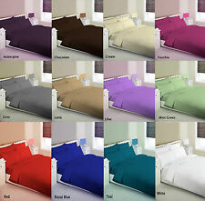 New 68Pick Plain Dyed Duvet Quilt Cover Bedding Set With PillowCases All Sizes