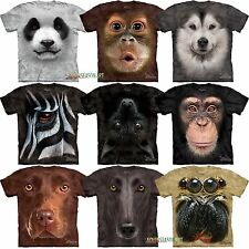 The Mountain Big Animal Face Panda Dog Zebra  Chimp Bat Head T Shirt 5 ON SALE!!