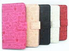 Cute Lovely Girl Flip PU Leather Pouch Case Cover For Samsung Galaxy Cell Phones