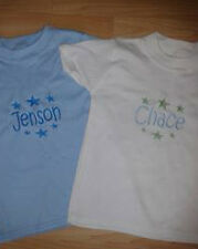 PERSONALISED BABY / TODDLER T SHIRT ANY NAME EMBROIDERED, LOTS OF COLOURS TOPS