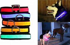 LED Safety Light Flashing Bright Dog Cat Collar Glowing Pet(no lead) S M L XL