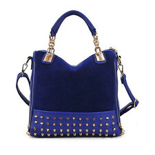 Hot Women Ladies Tote Messenger Handbag Rivet One Shoulder Hobo Clutch Bag