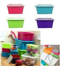 PLASTIC LARGE 5 L 14 L 32 L 52 L STORAGE BOXES & CONTAINERS BOX BIN WITH LID