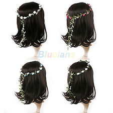 Vogue Women Wedding Hair Pieces Bridal Garland Floral Hoop Wreath Headband B62U