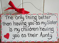 SHABBY CHIC FAMILY AUNTY SISTER BROTHER UNCLE BIRTHDAY CHRISTMAS THANK YOU GIFT