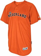 Nederland Majestic 2013 World Baseball Classic Authentic Batting Practice Jersey