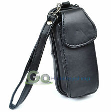 Leather Glasses Case Mobile Holder Wrist Strap Belt Loop Sun Spectacles Pouch