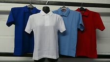 KIDS POLO PE T-SHIRT SCHOOL GYM SPORTS UNIFORM AGE 2-12 YRS