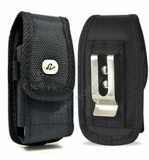 Vertical Rugged Canvas Belt Clip Case for Cell Phones FITS w/ MOPHIE PACK ON IT