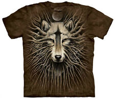 Wolven Roots Adult  Wolves Unisex T Shirt The Mountain