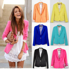 UK Trend! 2015 New Collection One Button Tunic Foldable Sleeve Jacket Blazer