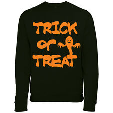 HALLOWEEN SPOOKY TRICK OR TREAT GHOST WOMENS FANCY DRESS PARTY SWEATSHIRT JUMPER