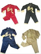 Boy's Asian Chinese Mandarin Kung Fu Costume Suit