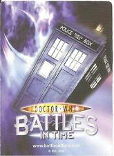 Dr Who Battles In Time Exterminator 241-276 Common & Rare Trading Card