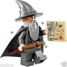 LEGO LORD OF THE RINGS, GREY GANDALF FIGURE + FREE STAFF & MAP - BESTPRICE - NEW