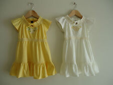 Toddler Girls GAP Yellow & Off-White Dresses With Embroidery -  Sizes 12M - 4Y
