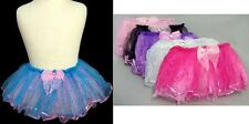 Wholesale Lot 6Pc Girls Dance Wear Tutu Skirt-3 Layers Glitter Small (# EDW-TS2)