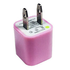Wholesale Bulk Pink USB Adapter 5V 1000mA Wall Charger for iPhone  4 4S 5 Galaxy