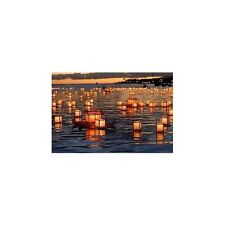 FLOATING WATER LANTERNS (CAN BE RE-USED) FLAME RESISTANT