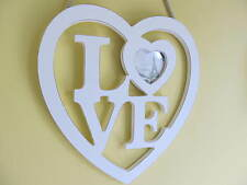 Shabby n Chic Hanging White Heart Sign/Photo Frame.Love or Home Designs.Gift