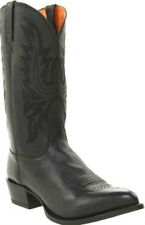 LUCCHESE Since 1883 M1020.J4 BLACK LONE STAR CALFSKIN MENS COWBOY BOOTS WESTERN