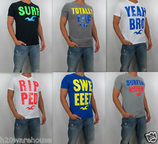 NWT HOLLISTER By Abercrombie Men 's Muscle Slim Fit Clobberstones T Shirt Tee