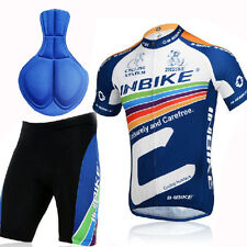Men's Bike Cycling Bicycle Comfortable Jersey Short Shirt Set for Outdoor Sports