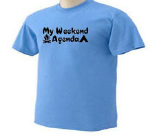 My Weekend Agenda Camping Outdoor Camp Tents Camper T-Shirt