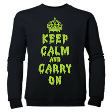 KEEP CALM AND CARRY ON  BOYS DRIPPING HALLOWEEN CHILDRENS SWEATSHIRT JUMPER