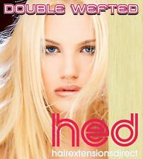 """Test 18"""" CLIP IN HUMAN HAIR EXTENSIONS,LIGHTEST BLONDE,(#60)"""