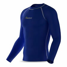 Mens compression base layer long sleeve shirt under layer top fitness sports gym