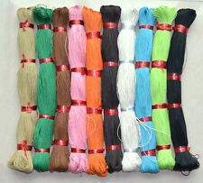 1mm Cotton Waxen Wax Cords Jewelry String Thread Shamball Bracelet 80M colors