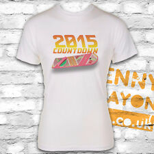 BACK TO THE FUTURE T-SHIRT, HOVERBOARD 2015 - WHITE GILDAN SOFTSTYLE - MCFLY