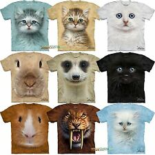 Mountain Big Animal Face Tiger Rabbit Meerkat  Head YOUTH T Shirt 11 ON SALE!!!!