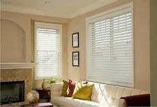 """3"""" Premium Faux Wood Blinds - Factory Custom-Made, Free Ship, SIZE 6""""~ 72"""" Width"""