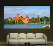 Lake Castle Trakai Lithuania Canvas Prints Wall Art Colorful Photo Print 1 2 vf