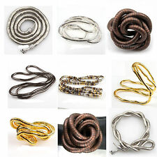 1pcs 90cm Long Bendy Flexible Snake Chains Necklace/ Bracelet For Men/ Women