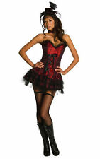 Ooh La La Saloon Women/ Girl Sexy Halloween Costume Corset w Mini skirt, XS, S