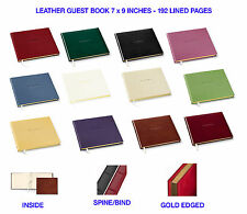 GALLERY LEATHER GUEST BOOK WITH GOLD EDGE (HANDCRAFTED IN MAINE, USA)