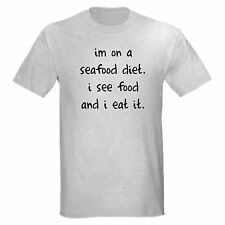 SEAFOOD DIET SEE FOOD EAT FUNNY COLLEGE T-SHIRT