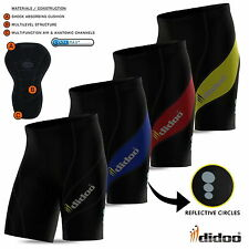 Mens Cycling Shorts gel padded bike pants body Armour short antibac all sizes