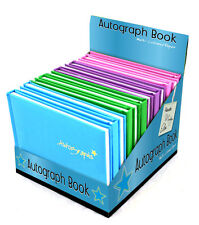 QUALITY PADDED HARDBACK AUTOGRAPH BOOK SIGNING SPORTS MUSIC SCHOOL TRIP GIFT NEW