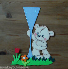 Bear Die Cuts - Tom Bear w/Champagne Flute - Invitations/Mothers Day/Party/Cards