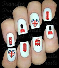 30 BRITISH UK UNION JACK LONDON NAIL ART DECALS STICKERS TRANSFERS PARTY FAVORS
