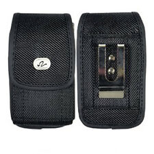 Vertical Rugged Canvas Belt Clip Case Pouch w/ Velcro Closure for LG Cell Phones