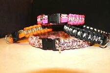 "550 PARACORD DOG COLLARS / 5/8"" ALUMINUM BUCKLE 8"" TO 18"""