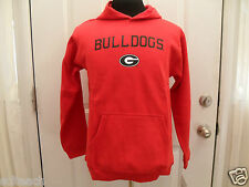 Brand New Youth Red Georgia Bulldogs Long Sleeve  (All Sizes) Hooded Sweatshirt
