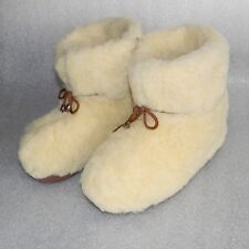 New 100% Natural Sheepskin SHEEP WOOL SLIPPERS, Warm BOOTY, All US Women's sizes