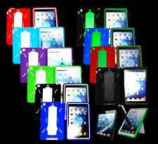 Colors Dual-layers Hybrid W/Stand Silicone & Hard case For Mini iPad Case Cover