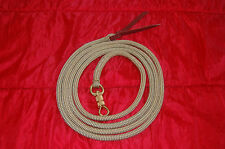 12' or 14' Tan/Gold Yacht  Rope Training Lead for Parelli Method